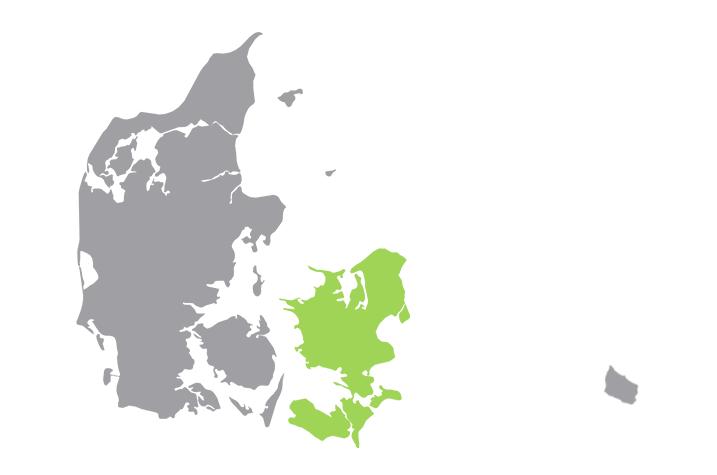 uniplan danmark danmarkskort øst