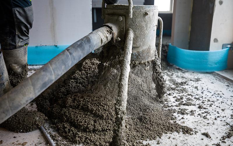 pumpning af thermolit eps beton